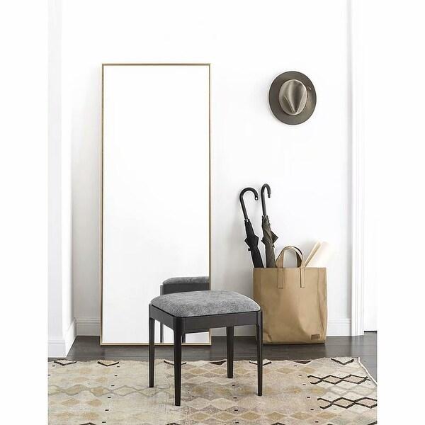 Modern Aluminum Alloy Thin Framed Full Length Floor Mirror. Opens flyout.