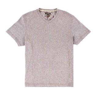 Tasso Elba NEW Beige Mens Size Large L V Neck Short-Sleeve Tee T-Shirt
