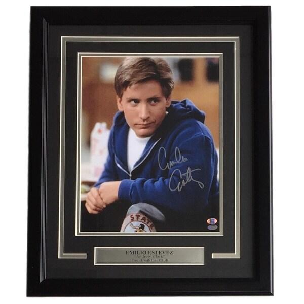 81e69c4c329 Shop Emilio Estevez Signed Framed 11x14 The Breakfast Club Photo Sports  Integrity COA - Free Shipping Today - Overstock - 21793110