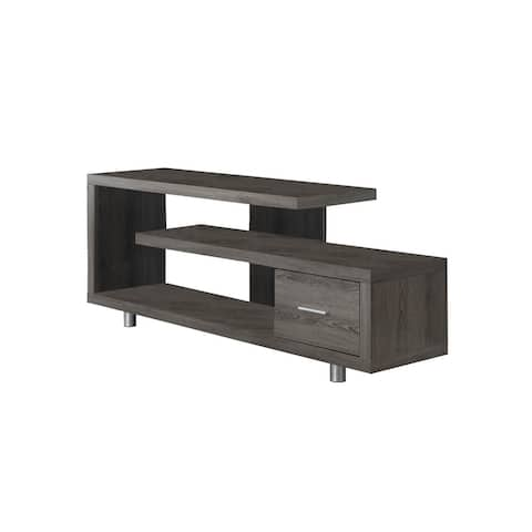 """Offex Contemporary Tv Stand - 60""""L - Dark Taupe with 1 Drawer, OFX-504235-MO"""