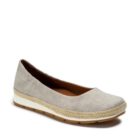 Baretraps PRIM Women's FLATS Dove Grey Canvas