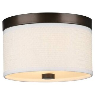 "Forecast Lighting F615220 2 Light 10.25"" Wide Flush Mount Ceiling Fixture from the Cassandra Collection"