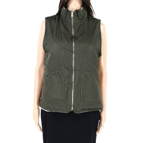 Thread & Supply Womens Jacket Olive Green Size Medium M Fleece Vest