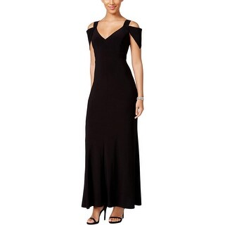 MSK Womens Evening Dress Cold Shoulder V-Neck