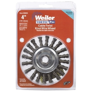 """Weiler 36055 Cable Twist Knot Wire Wheel, 4"""""""