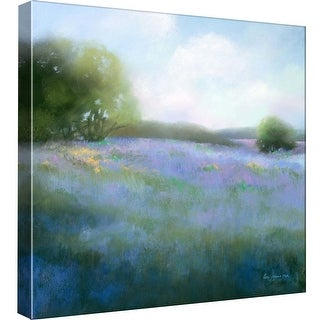 """PTM Images 9-98987  PTM Canvas Collection 12"""" x 12"""" - """"Spring Blues"""" Giclee Rural Art Print on Canvas"""