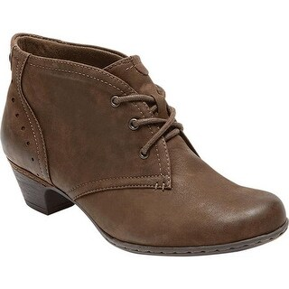 Rockport Women's Cobb Hill Aria Bootie Stone Full Grain Leather