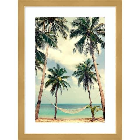 Palm Sky 3 by Design Fabrikken Framed Wall Art Print