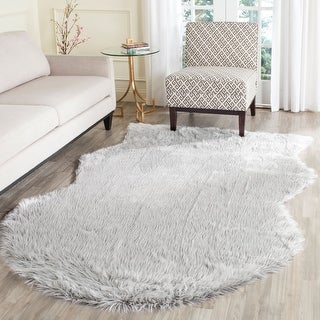 Link to Safavieh Faux Sheep Skin Christen Shag Solid Rug Similar Items in Shag Rugs