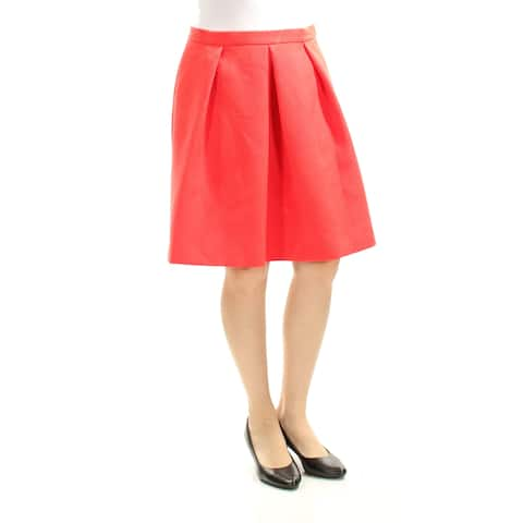 ANNE KLEIN Womens Red Above The Knee Pleated Skirt Size: 0
