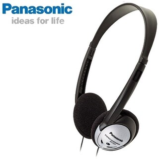 Panasonic Lightweight On-Ear Stereo Headphones RP-HT21 - Black/Silver