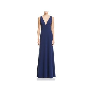 Laundry by Shelli Segal Womens Evening Dress Deep V-Neck Side Cut-Out - 14