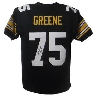 Joe Greene Autographed Pittsburgh Steelers size Xl black jersey HOF JSA