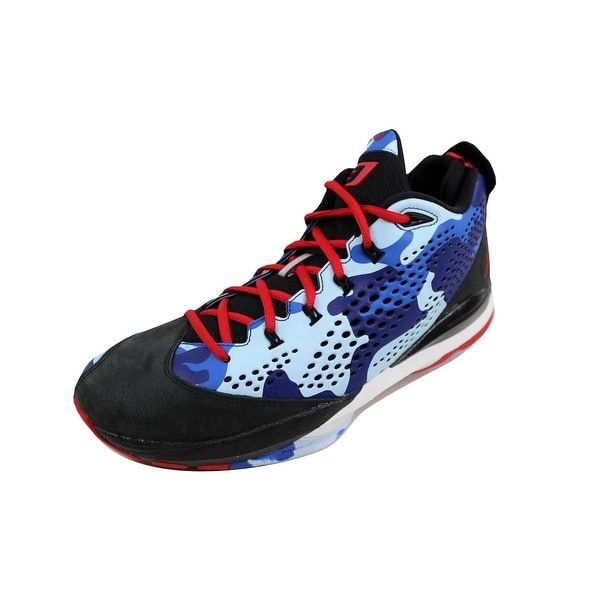 aabbca5cc0484d Shop Nike Men s Air Jordan CP3 VII 7 Black Sport Red-Chambray Blue ...