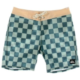 Quiksilver Mens Checkered Casual Board, Surf Shorts - 30