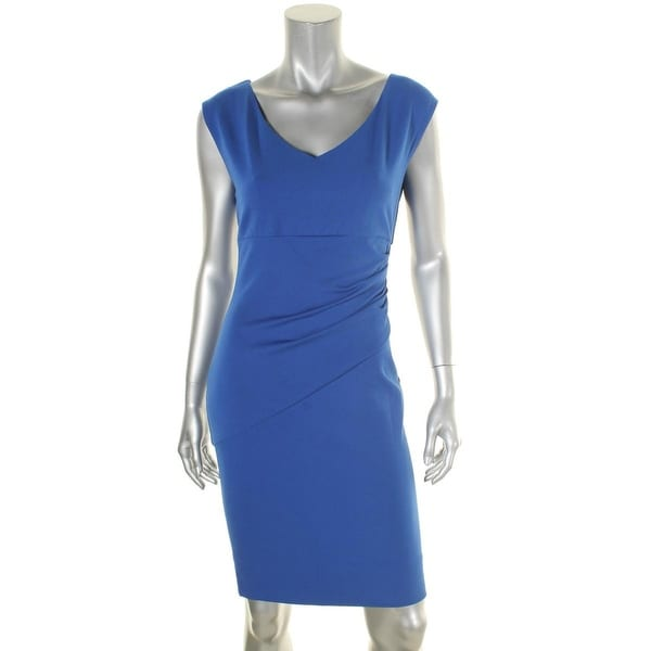 cc83117b Diane Von Furstenberg Womens Bevin Wear to Work Dress Ponte Sleeveless