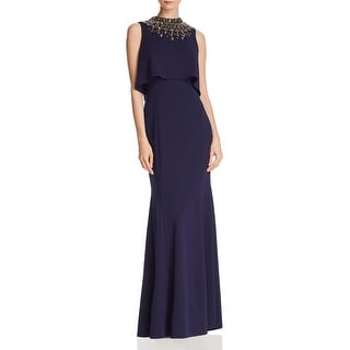 Link to Aidan Mattox Women's Crepe Embellished Sleeveless Halter Gown Similar Items in Dresses