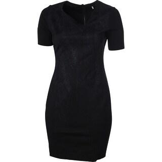 Elie Tahari Womens Karli Neoprene Printed Wear to Work Dress