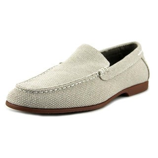 Robert Wayne Kit Men  Round Toe Canvas Nude Loafer