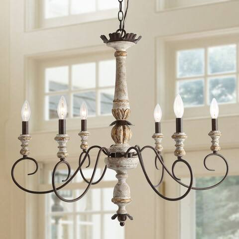 """6-light Rustic French Country Chandeliers Ceiling Pendant for Living Room - D31""""x H28"""""""