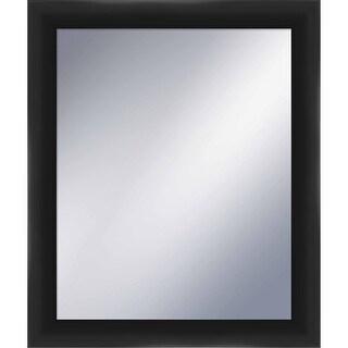 "PTM Images 5-1243 25-1/2"" x 21-1/2"" Rectangular Framed Mirror - Black - N/A"