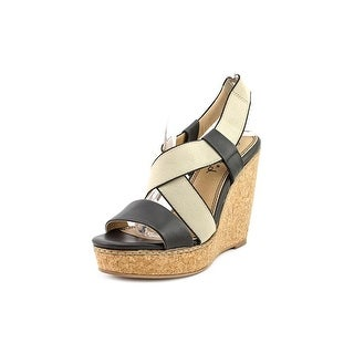 Splendid Kellen Women Open Toe Leather Wedge Sandal
