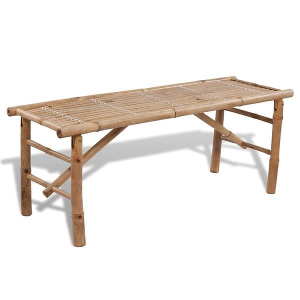 Admirable Shop Vidaxl Picnic Table Bench Set 3 Pieces Bamboo Folding Creativecarmelina Interior Chair Design Creativecarmelinacom