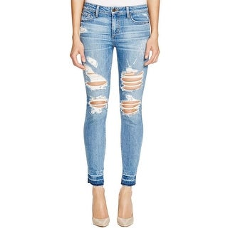 Joe's Womens Skinny Jeans Destroyed Frayed Hem