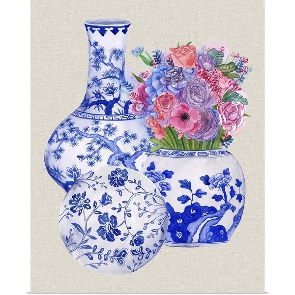 """""""Delft Blue Vases II"""" Poster Print"""