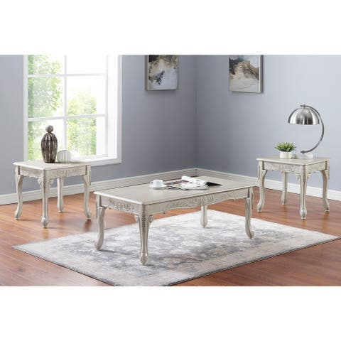 Furniture of America Diken 3-piece Coffee Table and End Tables Set