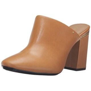 Calvin Klein Women's Cantha Mule, Almond Tan, Size 8.5