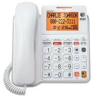 At&T Cl4940 Corded Phone With Answering System, Backlit Display - White