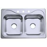 "Sterling 11400-3 Southhaven 33"" Double Basin Drop In Stainless Steel Kitchen Sink with SilentShield®"
