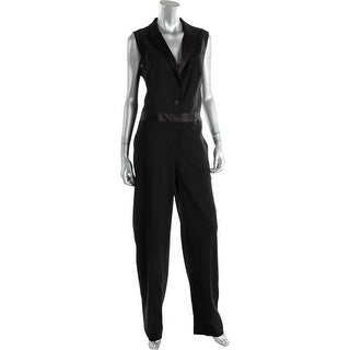 DKNY Womens Wool Solid Jumpsuit