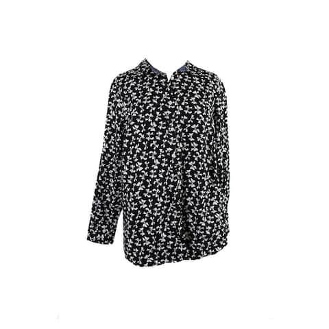 Charter Club Plus Size Black Printed Shirt 20W