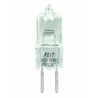 Feit Electric BPQ50T4/JCD 50-Watt T4 JCD Halogen Bulb with Bi-Pin Base, Clear