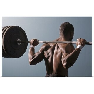 """""""Man working out the gym"""" Poster Print"""