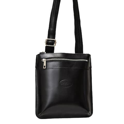 SHARO small Black cross body Italian Leather Bag
