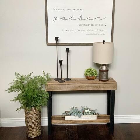 Carbon Loft Lerche Natural Wood Console Table