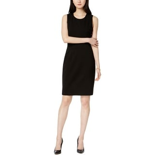 Kasper Womens Wear to Work Dress Pleated Sheath
