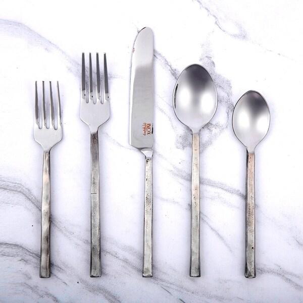 Inox Jason Design 20-piece Nascent Steel Flatware Set. Opens flyout.