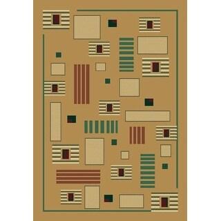 "United Weavers Manhattan Wall St Lt Green Abstract Modern Rug 1'10"" x 3' (040-38040)"