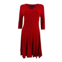a70d3e50d92 Shop Calvin Klein Women s Cowl Neck Fit   Flare Sweater Dress - Free ...