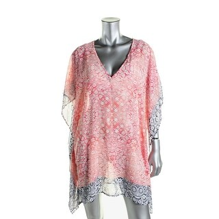 Tommy Bahama Womens Printed Tunic Swim Top Cover-Up - XS