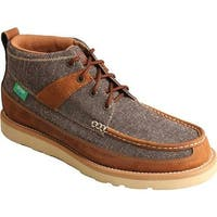 Twisted X Boots Men's MCA0018 Casual Driving Moc Dust/Brown Canvas