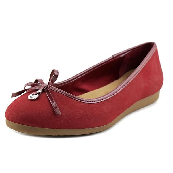 Giani Bernini Odeysa Women W Round Toe Suede Red Loafer