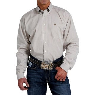 Cinch Western Shirt Mens Long Sleeve Square Buttons Tan