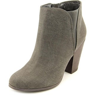 Fergalicious Punch Women Pointed Toe Synthetic Gray Bootie