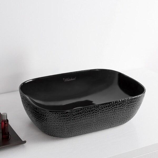 "Whitehaus WH71302 Isabella Plus 19-3/4"" Vitreous China Vessel Bathroom Sink"