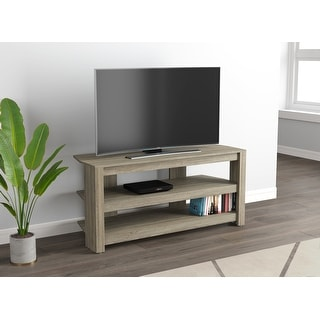 Tv Stand 42L Dark Taupe 2 Open Concept Shelves - 42 inch